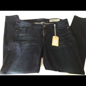 Denim - Straight leg dark  jeans